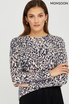 Monsoon Ladies Josie Animal Print Jumper
