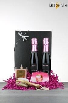 Le Bon Vin Sparkling Rosé Mini Break Spa Gift Set