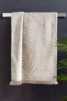 Velour Palm Leaf Towel