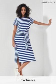 Next/Mix Stripe Jersey Dress