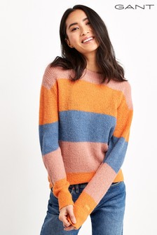 GANT Womens Colourful Striped Wool Blend Jumper