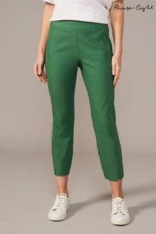 Phase Eight Green Louise Crop Trousers