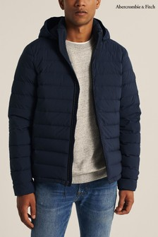 Abercrombie & Fitch Navy Lightweight Packable Jacket