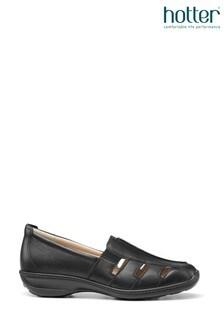 Hotter Black Amber Slip On Shoes