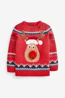 Rudolph Christmas Jumper (3-16yrs)