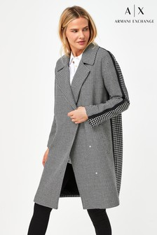 Armani Exchange Puppytooth Coat