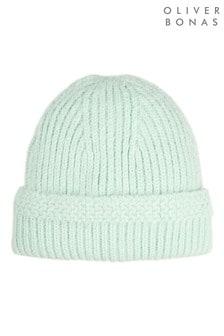 Oliver Bonas Fluffy Mint Beanie Hat