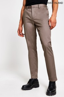 River Island Light Purple Axis Slim Chino Trousers