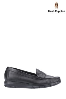 Hush Puppies Black Paige Slip-On Loafers