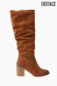 FatFace Brown Whitby Western Boots