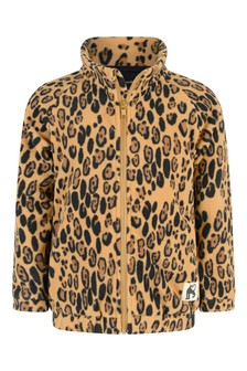 Mini Rodini Kids Beige Fleece Jacket