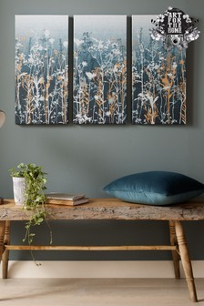 Trio Of Wildflower Meadows Wall Art by Art For The Home