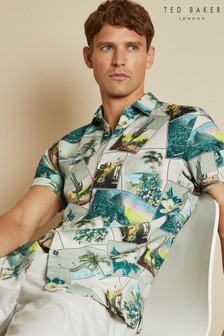 Ted Baker Postcard Revere Collar Shirt
