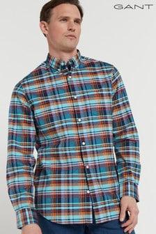 GANT Regular Preppy Oxford Plaid Shirt