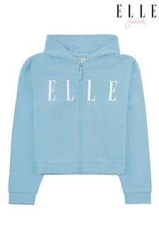 ELLE Blue Oversize Zip Hoody
