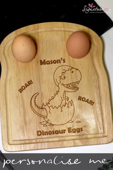 Personalised Dinosaur Egg And Soldiers Board by Signature PG