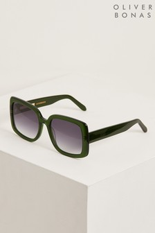 Oliver Bonas Dublin Green Square Sunglasses