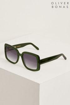 Oliver Bonas Dublin Green Square Sunglasses