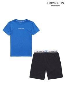 Calvin Klein Blue Minigram Pyjama Set