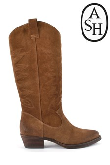 Ash Incas Tan Suede Cowboy Boots