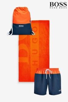 BOSS Beach Towel/Shorts/Bag Set