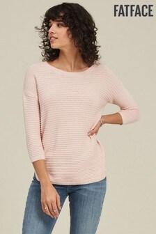 FatFace Pink Lara Textured T-Shirt