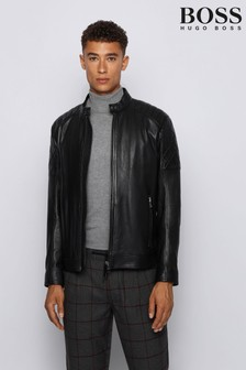 BOSS Jeean Leather Biker Jacket