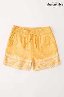 Abercrombie & Fitch Yellow Print Shorts