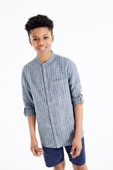 Stripe Grandad Collar Shirt (3-16yrs)