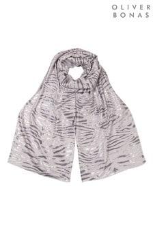 Oliver Bonas Snake Foil Grey Lightweight Scarf