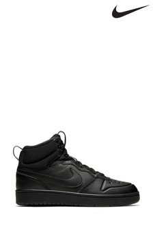 Nike Black Court Borough Mid Youth Trainers