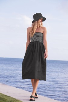 Bandeau Midi Dress