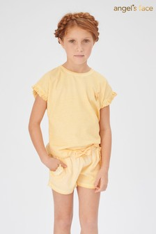 Angel's Face Yellow Kayla Washed Shorts