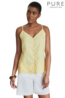 Pure Collection Yellow Linen Camisole