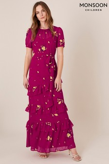 Monsoon Lexie Floral Tiered Frill Maxi Dress