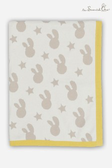 The Essential One Bunny Knitted Reversible Blanket