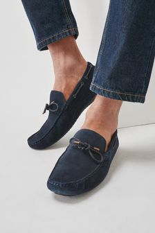 Suede Slip-On Driver Loafers