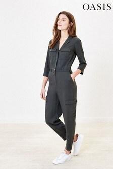 Oasis Black Utility Boilersuit