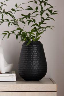 Black Embossed Vase