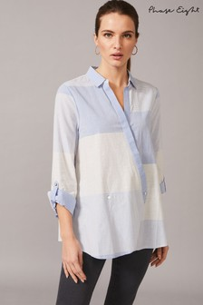 Phase Eight Blue Giana Patchwork Blouse