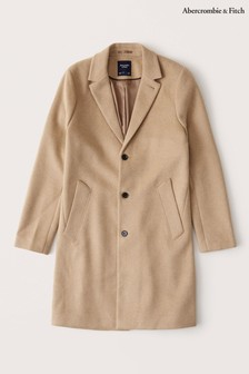 Abercrombie & Fitch Camel Wool Coat
