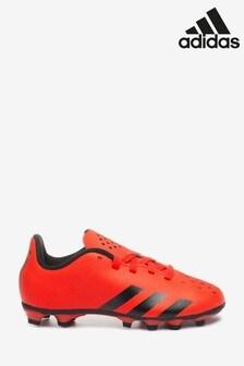 adidas Red Predator P4 Kids Firm Ground Football Boots
