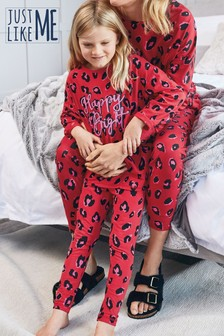 Matching Mother & Me Girls Animal Print Pyjamas (3-16yrs)