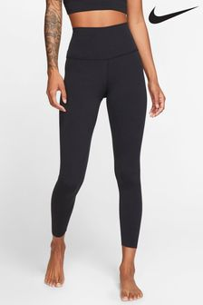 Nike Yoga Black Luxe High Waisted 7/8 Leggings