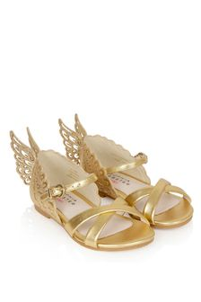 Sophia Webster Girls Gold Evangeline Sandals