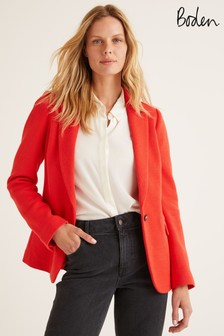 Boden Red Hall Jersey Blazer