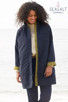 Seasalt Green Two Paths Cut Stem Reversible Raincoat