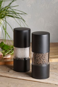Matte Black Salt And Pepper Set