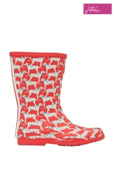 Joules Red Junior Roll-Up Wellies