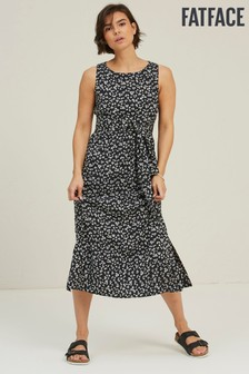 FatFace Black Laurie Daisy Breeze Midi Dress